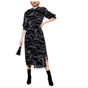 NEVER WORN Horse Print Midi Dress